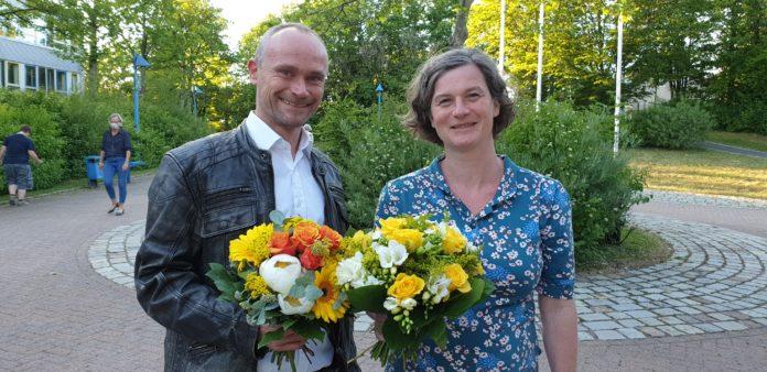 David Schichel und Ilka Brehmer sind die Spitzenkandidat*innen der Remscheider Grünen. Foto: Sascha von Gerishem