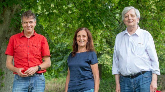 Das Spitzentrio von Die Linke.Remscheid: Peter Lange, Brigitte Neff-Wetzel und Fritz Beinersdorf (v.l.). Foto: Thomas E. Wunsch