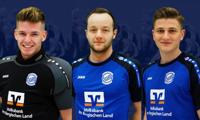 Im Trainingskader der U23 Rollhockey-Nationallmannschaft: Jonas Langenohl, Daniel Strieder und Alexander Ober von der IGR Remscheid. Foto: IGR Rremscheid - www.igr-remscheid.de