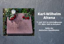 Karl-Wilhelm Altena. *1. Juli 1911 in Lüttringhausen †17. März 1945 in Ronsdorf. Opfer der deutschen Nazidiktatur. Foto: Klaus Blumberg