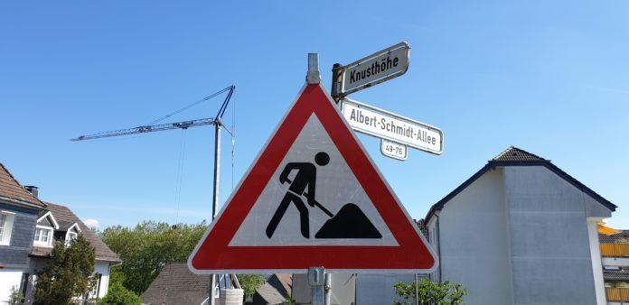 Es gilt das Grün zu bewahren und nicht alles zuzubetonieren. Symbolfoto Baustelle Kreuzung Knusthöhe und Albert-Schmidt-Allee in Lennep. Foto: Sascha von Gerishem