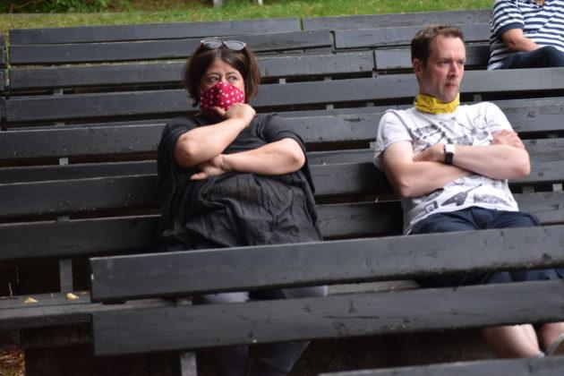 Steph Hoffmann und Christian Wüster. Foto: Peter Klohs