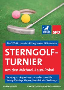 Das 5. Sterngolf-Turnier um den Michael-Laux-Pokal findet am Samstag, 22. August 2020 von 14-17 Uhr in der Stergolfanlage Klausen statt.