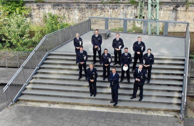 Die Neuzugänge der Polizeiinspektion Remscheid. Foto: Polizei Wuppertal