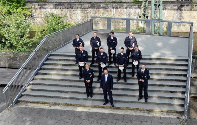 Die Neuzugänge der Polizeiinspektion Solingen. Foto: Polizei Wuppertal