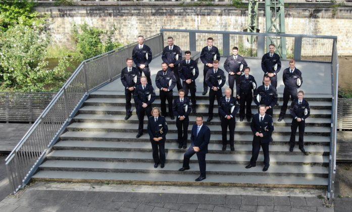 Die Neuzugänge der Polizeiinspektion Wuppertal. Foto: Polizei Wuppertal