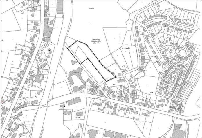 Gebietsabgrenzung zu dem Bebauungsplan Nr. 676 nördlich Schwarzer Weg. Quelle: Stadt Remscheid
