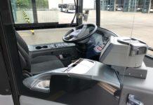 ÖPNV: Der Fahrerbereich der Busse ist nun mit einer festen Glastrennscheibe versehen. Foto: Stadtwerke Remscheid