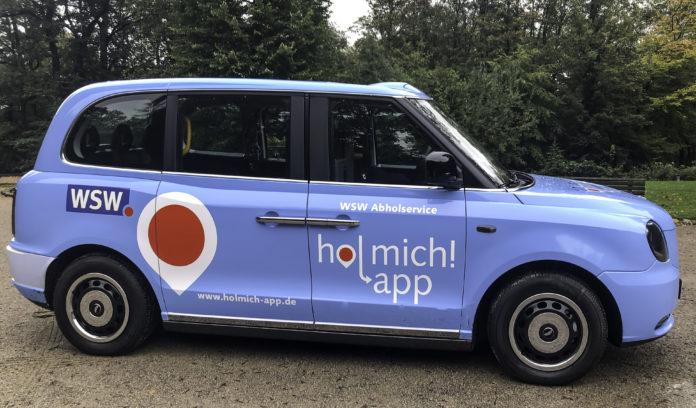 Die WSW mobil GmbH testet den On-Demand-Verkehr per Hol mich! App und mit elektrisch angetriebenen London Taxis. Foto: obs/WSW Wuppertaler Stadtwerke GmbH/Jason-Steve Mageney
