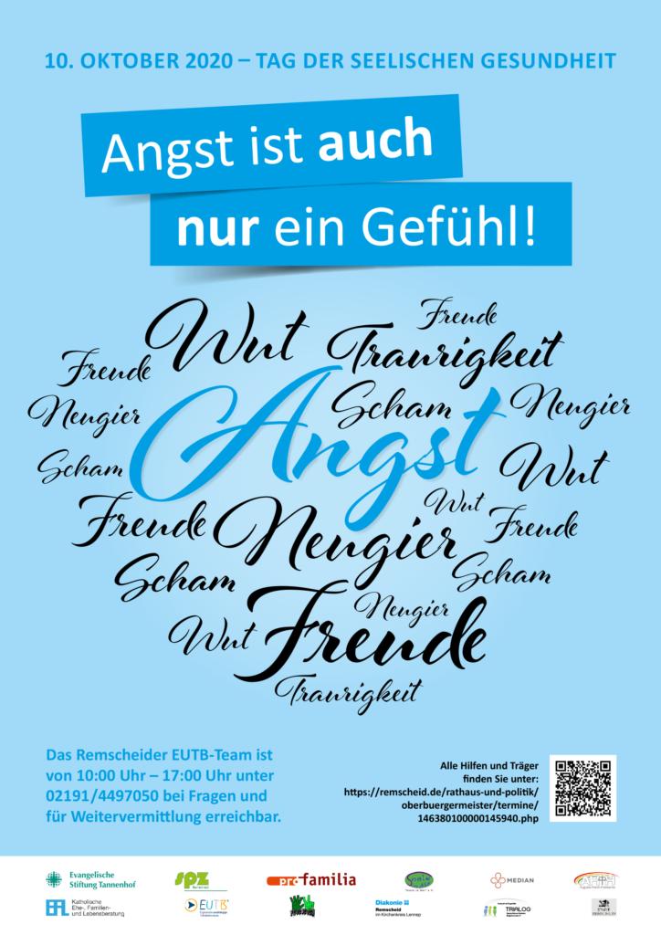 Posteraktion zum Tag der seelischen Gesundheit am 10. Oktober.