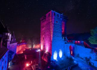 Burgleuchten auf Schloss Burg in Solingen. Foto: Christian Stebel