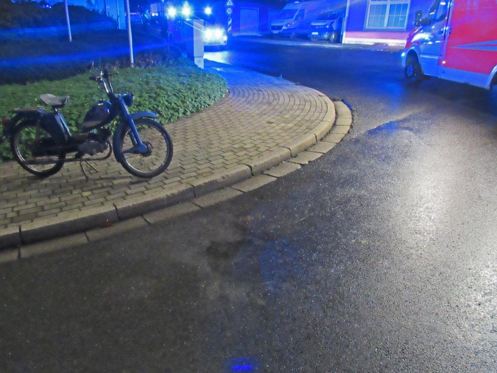 Die Unfallstelle in Neviges an Bogen- und Wilhelmstraße. Foto: Polizei Mettmann