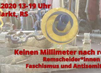Der Gegenprotest findet am 25. Oktober von 13-19 Uhr am Markt in Remscheid statt.