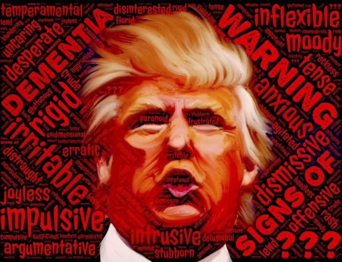 Risikofaktor Donald J. Trump. Artwork: John Hain