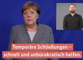 Angela Merkel im Video-Podcast mit Gebärdenübersetzung.
