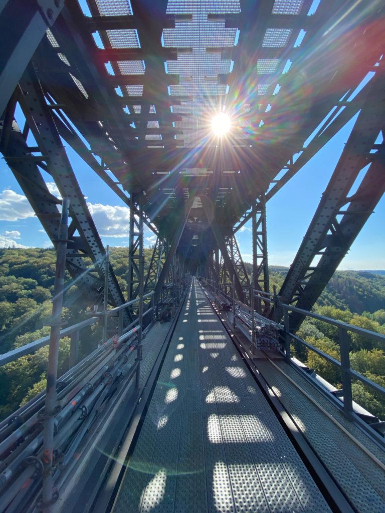 Der Arbeitsweg der Müngstener Brücke. Foto: Dirk Herrmann