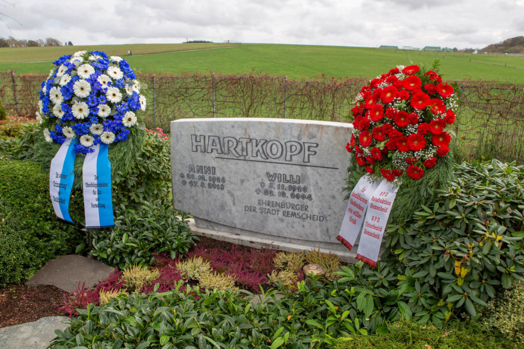 Die Grabstätte von Willi Hartkopf auf dem evangelischen Friedhof in Lüttringhausen. Foto: Thomas E. Wunsch