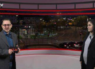 """Marcus Schmidt führt durch """"Die Woche"""", die Lokalnachrichten aus Remscheid präsentiert Sabine Yündem. Eine Kooperation von rs1.tv und Lüttringhauser. Screenshot: rs1.tv"""