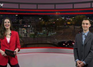 """Sarah Stahlschmidt führt durch """"Die Woche"""", die Lokalnachrichten aus Remscheid präsentiert Daniel Pilz. Eine Kooperation von rs1.tv und Lüttringhauser. Screenshot: rs1.tv"""