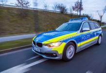 Funkstreife: Einsatzfahrt der Polizei. Symbolbild