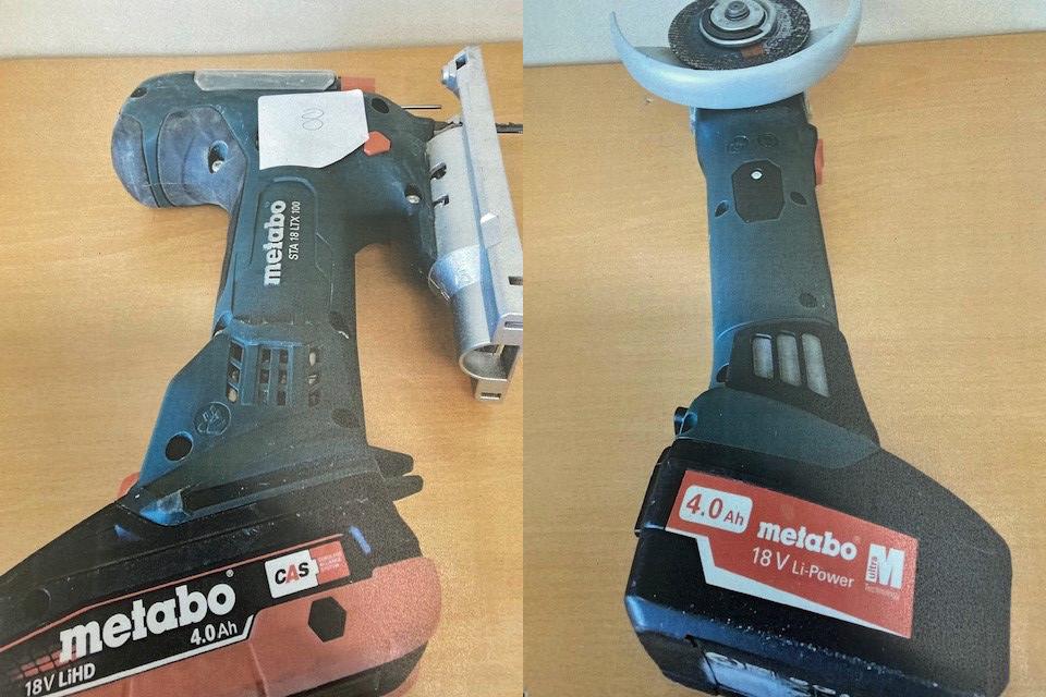 Erkennen Sie diese Maschinen wieder? Das Kriminalkommissariat Gummersbach sucht nach den ehemaligen Besitzenden. Foto: Polizei Oberberg