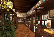 Virtueller Weihnachtsmarkt im digitalisierten Rittersaal von Schloss Burg. © Excit3D
