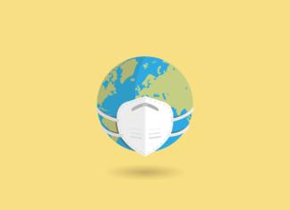 Corona: Die Welt trägt Mund-Nasenschutz. Symbolbild.