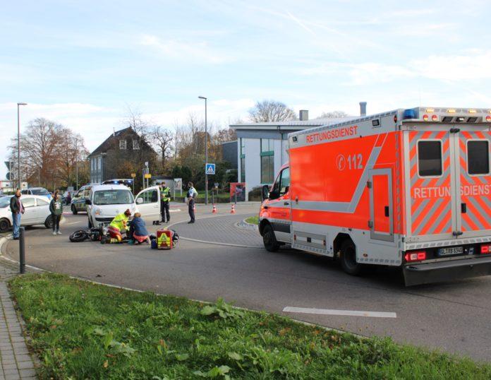 Die Unfallstelle Dünweg in Burscheid-Hilgen. Foto: Polizei RheinBerg