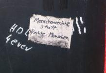 """""""Menschenrechte statt Rechte Menschen."""" Foto: Andreas Senftenberg"""