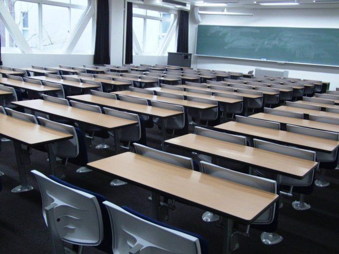 Ein leerer Klassenraum. Symbolfoto.