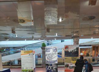 Im Allee-Center heißt es wieder #trotzdemSPORT - eine Gemeinschaftsaktion vom Sportbund Remscheid und einigen Mitgliedsvereinen. Foto: Paula Stausberg