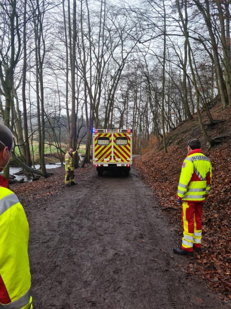 Der Gerätewagen Rettung wird eingewiesen. Foto: Feuerwehr Velbert
