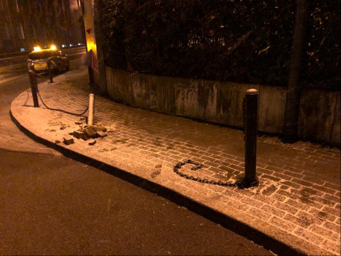 Bild von der Unfallstelle Montanusstraße / Peterstraße in Hückeswagen. Foto: Polizei OberBerg