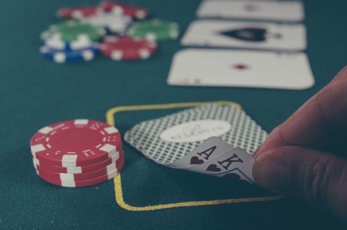 Poker. Der Klassiker bei illegalem Glücksspiel. Symbolfoto.