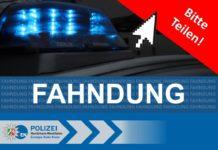 Fahndung: Die Polizei bittet um das Teilen der Suchinformationen.