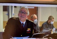 Rolf-Erich Rehm begrüßt digital zum Kreisdelegiertentag. Foto: Kreisfeuerwehrverband Ennepe-Ruhr