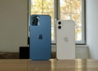 Symbolfoto: iPhone 12 pro und iPhone 12. Foto: Lukas Gehrer
