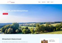 Website zum Klimaschutz in Radevormwald unter www.klimaschutz-rade.de online. Screenshot: www.klimaschutz-rade.de