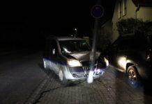 Den Polizisten gegenüber gab der Mann lediglich an, dass er nicht wüsste wer mit seinem Pkw gefahren sei. Bei 2 Promille mag man ihm sogar glauben. Foto: Polizei RheinBerg