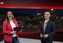 """Sabrina Ottersbach führt durch """"Die Woche"""", die Lokalnachrichten aus Remscheid präsentiert Daniel Pilz. Eine Kooperation von rs1.tv und Lüttringhauser. Screenshot: rs1.tv"""