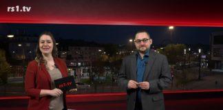 """Sabrina Ottersbach führt durch """"Die Woche"""", die Lokalnachrichten aus Remscheid präsentiert Marcus Schmidt. Eine Kooperation von rs1.tv und Lüttringhauser. Screenshot: rs1.tv"""