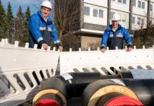 Markus Hilkenbach und Dr. Frank Pieper treiben den Klimaschutz im Wärmesektor voran. Foto: WSW Wuppertaler Stadtwerke GmbH / Stefan Tesche-Hasenbach