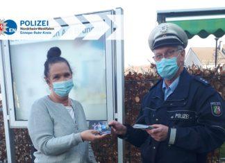 Ennepe-Ruhr-Kreis: Verkehrsprävention in Lindergärten und Kindertagesstätten pandemiebedingt per Postkarte. Foto: Polizei EN