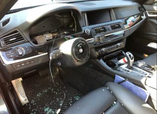 Wieder wurde ein BMW ausgeräumt. Foto: Polizei RheinBerg