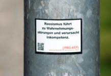 Rassismus führt zu Wahrnehmungsstörungen und verursacht Inkompetenz. Foto: Nile #nazisraus #gegennazis