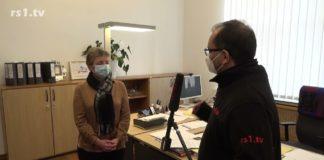 Barbara Reul-Nocke, Rechtsdezernentin der Stadt Remscheid, im Interview mit rs1.tv-Chefredakteur Arunava Chaudhuri. Screenshot: rs1.tv