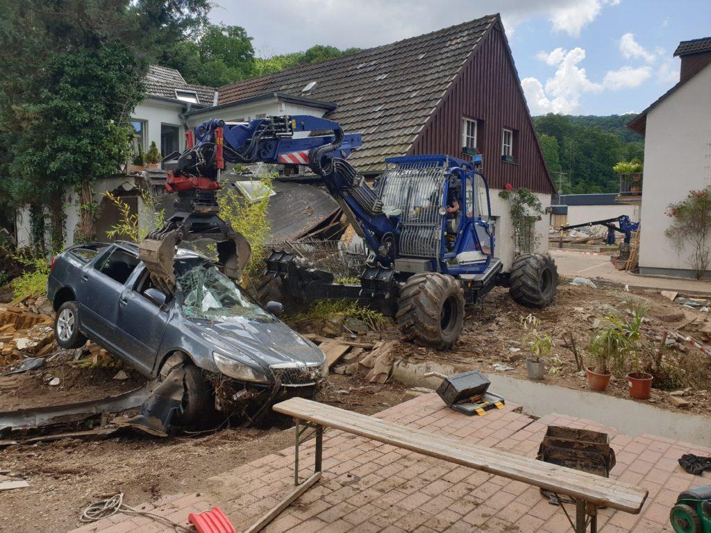 Auch in Bad Münstereifel war das THW Remscheid im Einsatz. Foto: THW Remscheid / Tobias Jahn