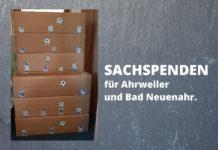 Eine Sachspende mit über 500 Hygieneartikeln der SGH und Apotheke am Henkelshof für Ahrweiler und Bad Neuenahr. Foto: Joachim Weber