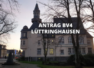 Antrag an die Bezirksvertretung Lüttringhausen. Rathaus Lüttringhausen. Foto: Sascha von Gerishem