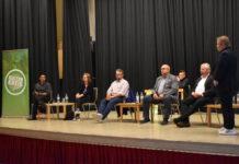 Shoan Vaisi, Silvie Vaeckenstedt, Dr. Robert Weindl, Ingo Schäfer, Jürgen Hardt und Moderator Thorsten Greuling. Foto: Peter Klohs
